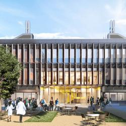Artist's view of the new Civil Engineering Building (Image courtesy of Grimshaw Architects)