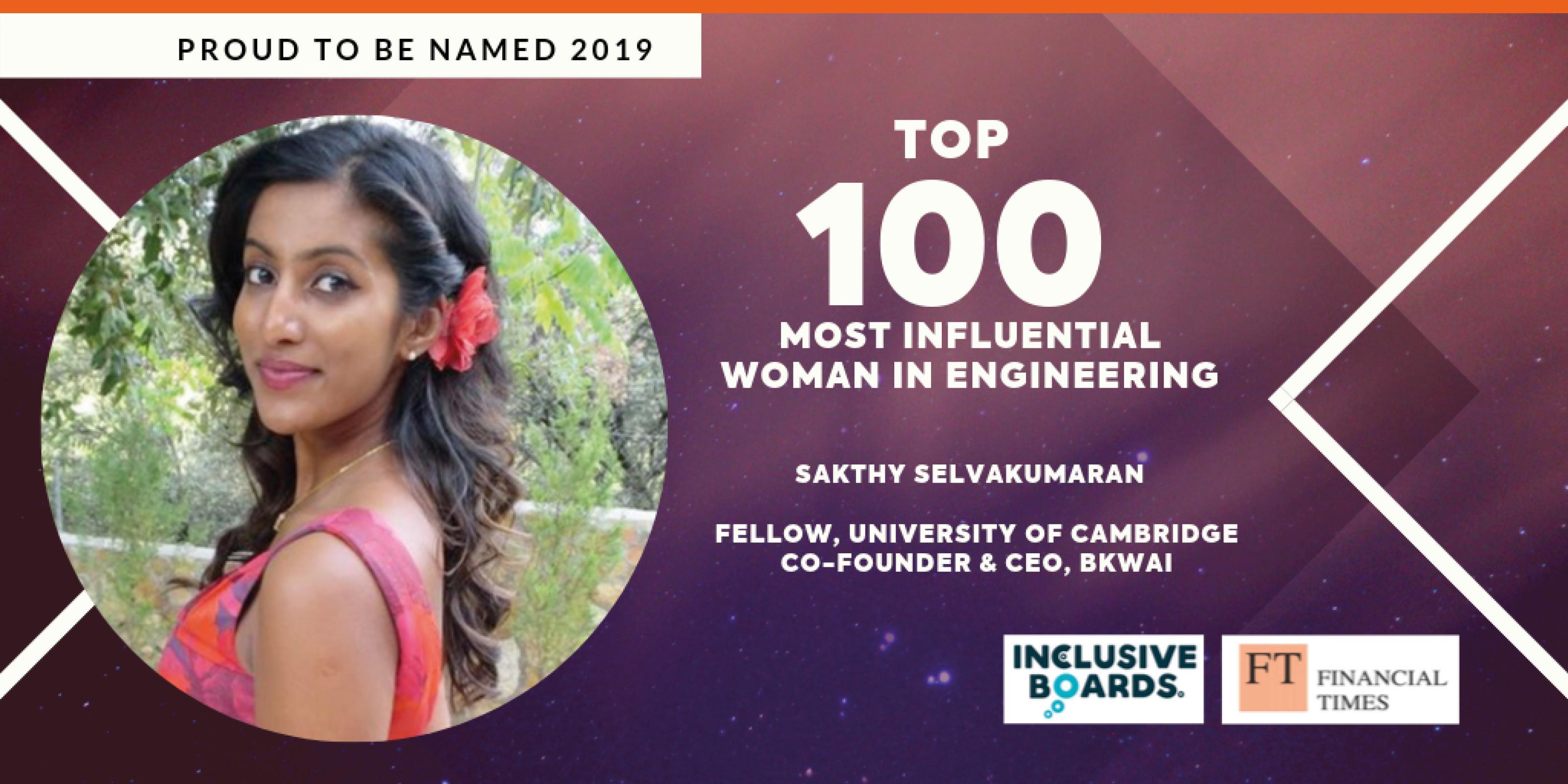 Sakthy top 100 influential women